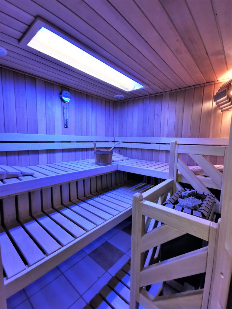 Sauna im Untergeschoss